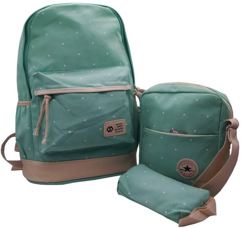903543bcbcc Flipkart.com | Insasta Set Of 3 Pcs Sports Bag Canvas School Bag ...