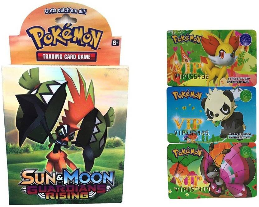 8ea27c3464a Civil Sun   Moon Playing Cards With Deck   1 Booster Pack   3 VIP Card  Combo (Multicolor)
