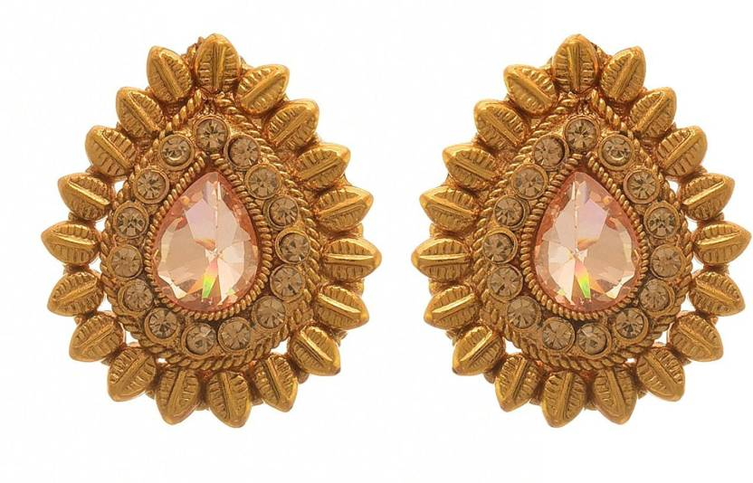 7c011bcda Flipkart.com - Buy JFL-Jewellery For Less JFL - Traditional Ethnic One Gram  Gold Plated LCD Champagne Designer Earrings for Women & Girls. Diamond  Copper ...