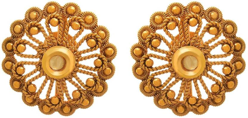 880e345c8 Flipkart.com - Buy JFL-Jewellery For Less JFL - Traditional Ethnic One Gram  Gold Plated Designer Stud Earring for Women & Girls Diamond Copper Stud  Earring ...