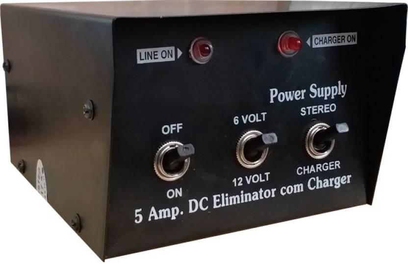 TRP TRADERS 12V & 6V 5A Battery Charger Eliminator 5 Amp Transformer Copper  Winding, 220V AC Pure Sine Wave Inverter