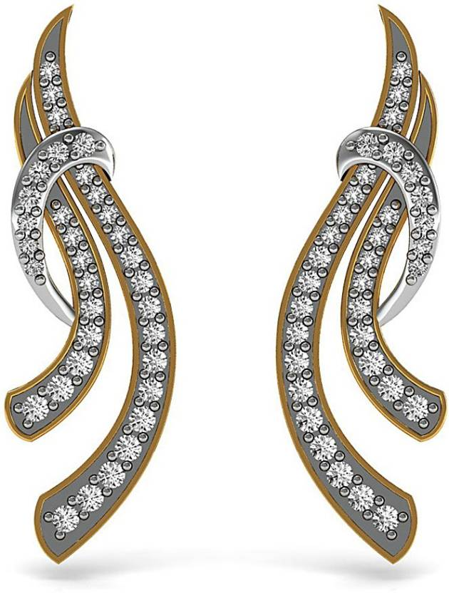 5baf1c9e6 Vannajewels Daily Wear Jewelry Yellow Gold 14kt Diamond Stud Earring Price  in India - Buy Vannajewels Daily Wear Jewelry Yellow Gold 14kt Diamond Stud  ...
