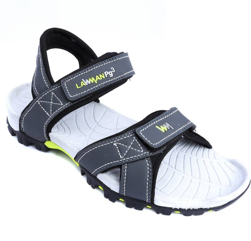 a76d3e0336bc LAWMAN PG3 Men Grey Sandals - Buy Grey Color LAWMAN PG3 Men Grey Sandals  Online at Best Price - Shop Online for Footwears in India