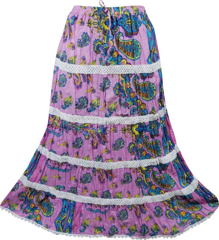 83e3437987 Indiatrendzs Printed Women A-line Pink Skirt - Buy Indiatrendzs Printed  Women A-line Pink Skirt Online at Best Prices in India | Flipkart.com