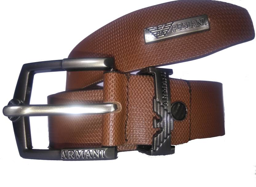 Giorgio Armani Men Tan Genuine Leather Belt TAN - Price in India ... 1bf0e35b177a4