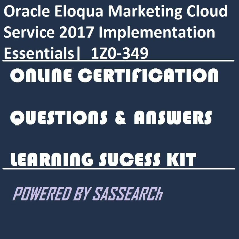 Sapsmart Oracle Eloqua Marketing Cloud Service 2017 Implementation