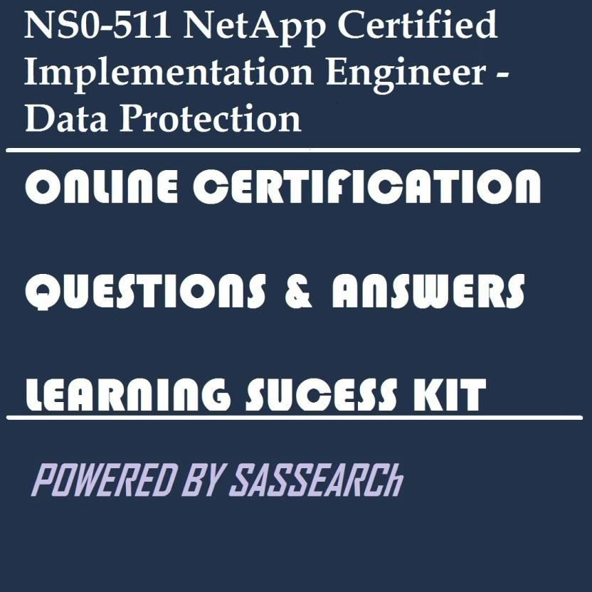 Sapsmart Ns0 511 Netapp Certified Implementation Engineer Data