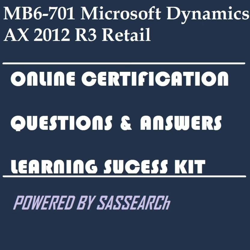 Sapsmart Mb6 701 Microsoft Dynamics Ax 2012 R3 Retail Online