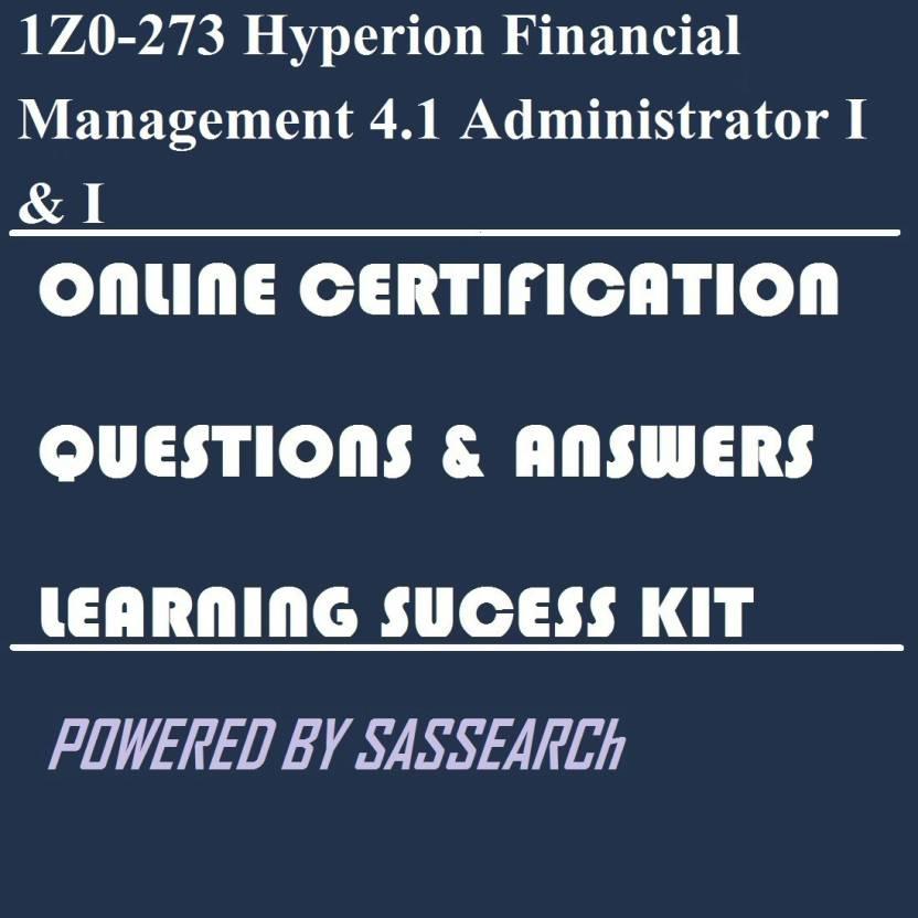 SAPSMART 1Z0-273 Hyperion Financial Management 4 1