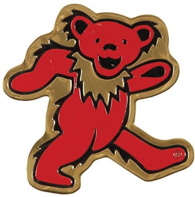 C&D Visionary Grateful Dead Bear Metal Sticker, Gold, 5Cm - Grateful