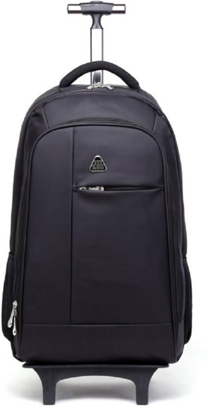 4a8787a489 WBD Anti-Theft-Coded-Lock-Detach-Trolley 50 L Trolley Laptop Backpack (Black )