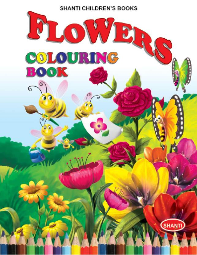 Colouring Books For Kids Theme Colouring Book Flowers Coloring