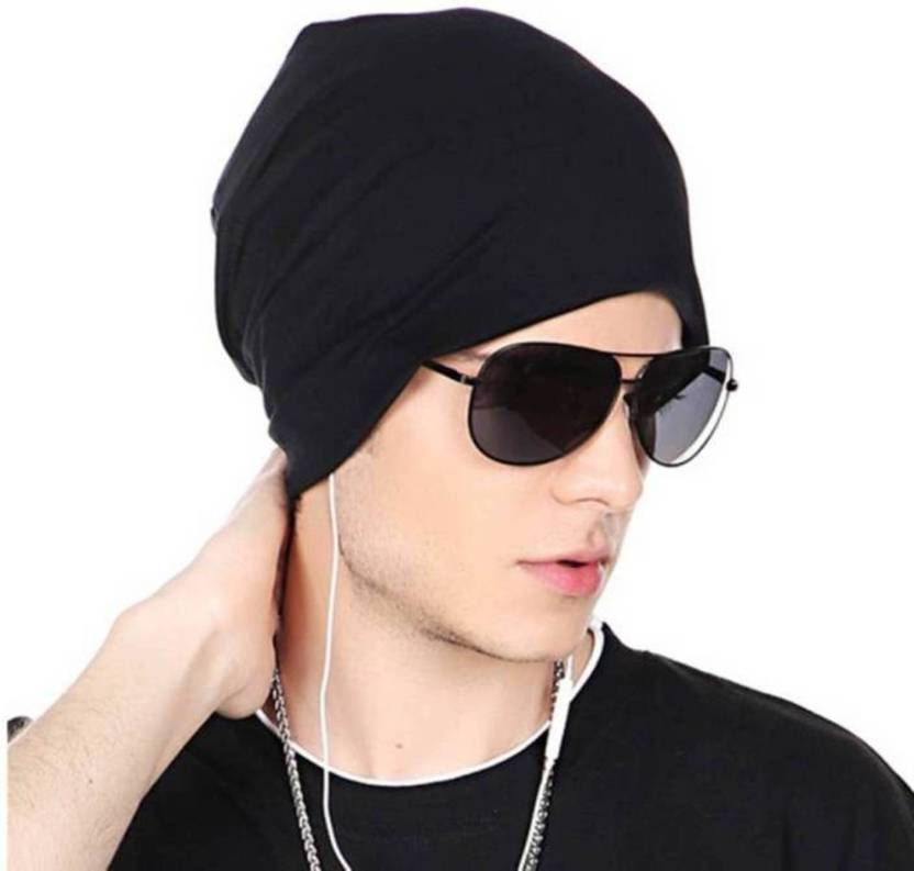 Raydon Stylish Looks Black Cotton Beanie Cap - Buy Raydon Stylish Looks  Black Cotton Beanie Cap Online at Best Prices in India  c2686289ed8