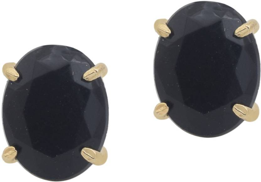Oval Shape Imitation Black Diamond Stylish Fashion Studs Earrings Women S Cubic Zirconia Br Stud Earring Online At Best Prices In India