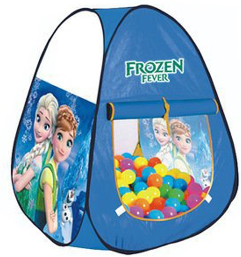 IndusBay Play Tent Frozen Ball Pool Pop-Up tent For Girls Toy Picnic Hut 50 Balls Included (Blue)  sc 1 st  Flipkart & IndusBay Play Tent Frozen Ball Pool Pop-Up tent For Girls Toy Picnic ...