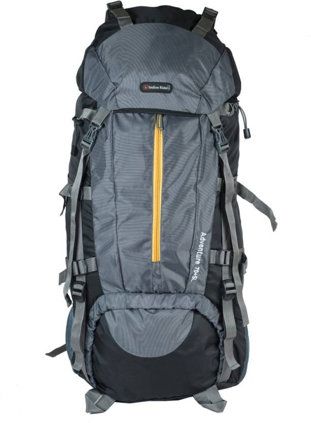 21bd4b32b013 Indian Riders Front Open Model Hiking Trekking Camping Rucksack  Bags-75L-Grey & Black-(IRRB-010) Rucksack - 75 L