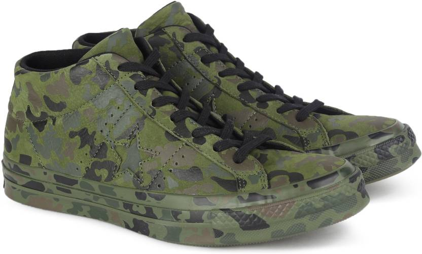 e2a8dc8114c0 Converse One Star Camo Mid Sneakers For Men - Buy HERBAL COLLARD ...