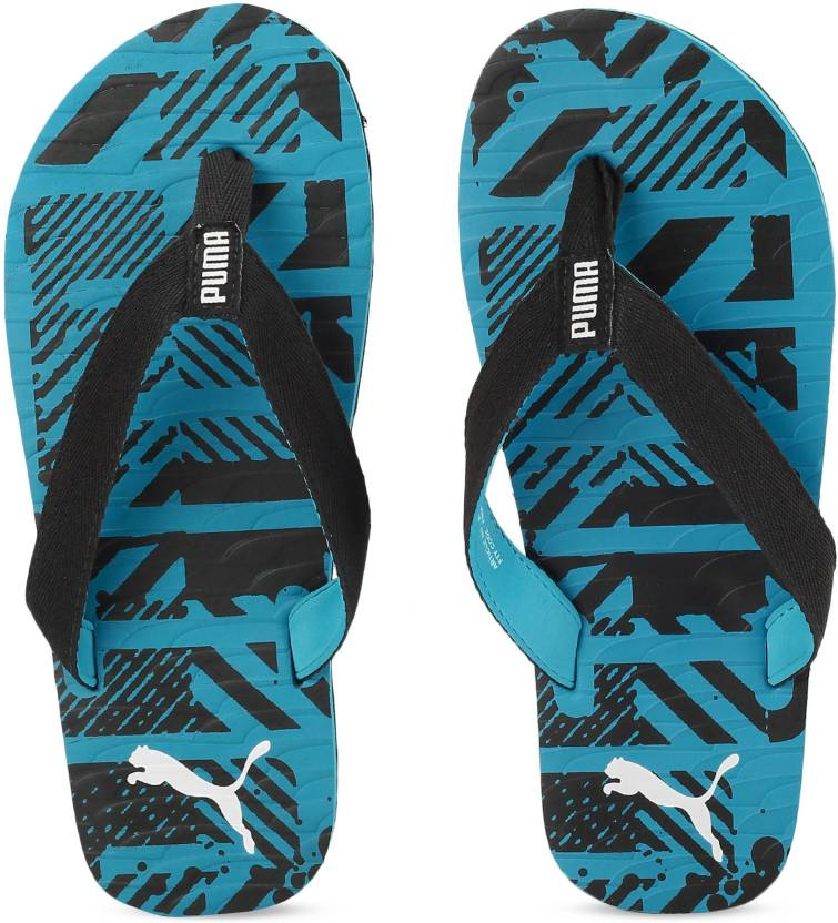 03503d5f7341 Puma Mykonos Graphic IDP Flip Flops - Buy Hawaiian Ocean-Puma White-Puma  Black Color Puma Mykonos Graphic IDP Flip Flops Online at Best Price - Shop  Online ...