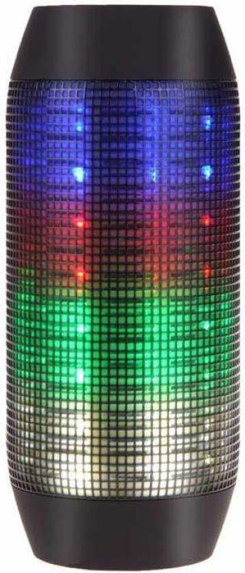 """VibeX â""""¢ Splashproof Portable Bluetooth Speaker With LED 3 W Bluetooth Home Theatre Multicolor, 2.1 Channel"""