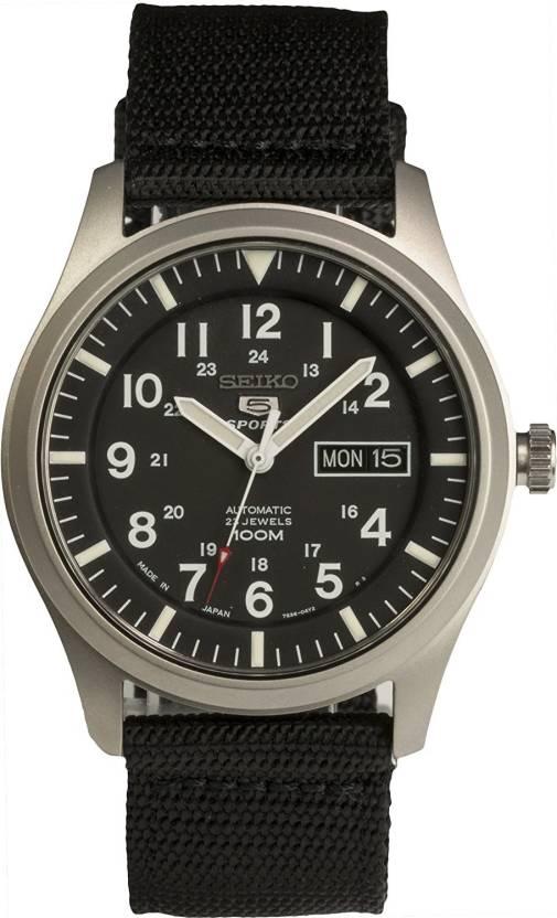 Seiko black11790 SEIKO 5 SPORTS Automatic made in Japan Black Dial Nylon Strap Watch SNZG15J1 Men's Watch - For Men - Buy Seiko black11790 SEIKO 5 SPORTS ...