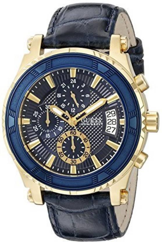 ecc3a8bde8e Guess Blue17244 GUESS Men s U0673G2 Iconi Blue   Gold-Tone Watch with Date  Function Watch