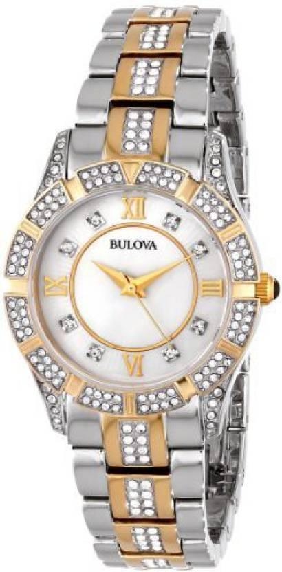 d8a4788ec Bulova silver8166 Bulova Women's 98L135 Swarovski Crystal Two Tone Bracelet  Watch Watch - For Women - Buy Bulova silver8166 Bulova Women's 98L135  Swarovski ...