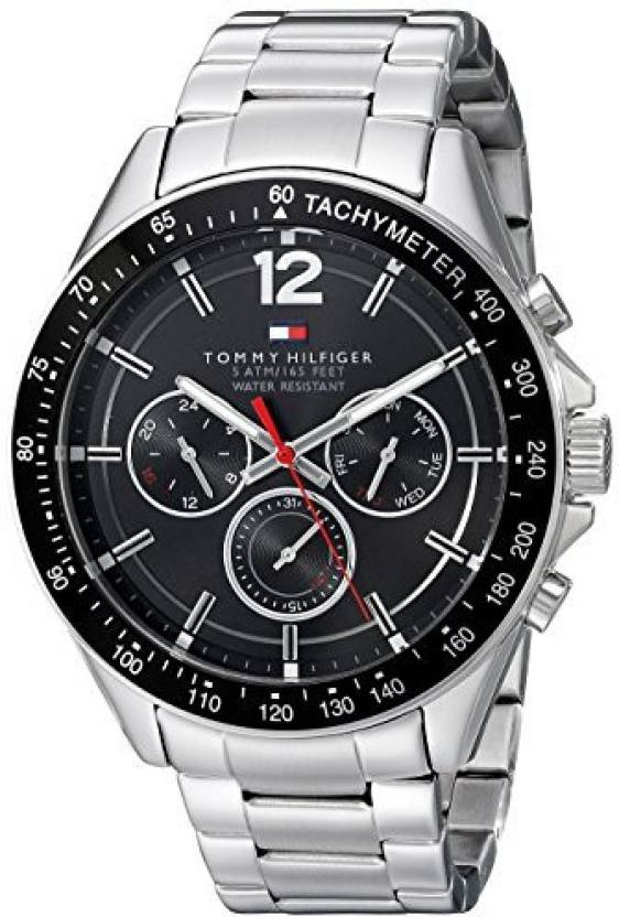 a98d5393 Tommy Hilfiger Black 14379 Tommy Hilfiger Men's 1791104 Sophisticated Sport  Analog Display Quartz Silver Watch Watch - For Men - Buy Tommy Hilfiger  Black ...