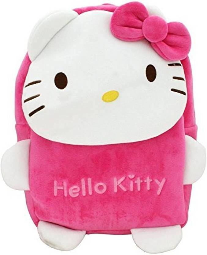 Frantic New Hello Kitty Velvet Kids School Bag - 2 to 5 Age Waterproof  School Bag (Multicolor 62d083bb6783b