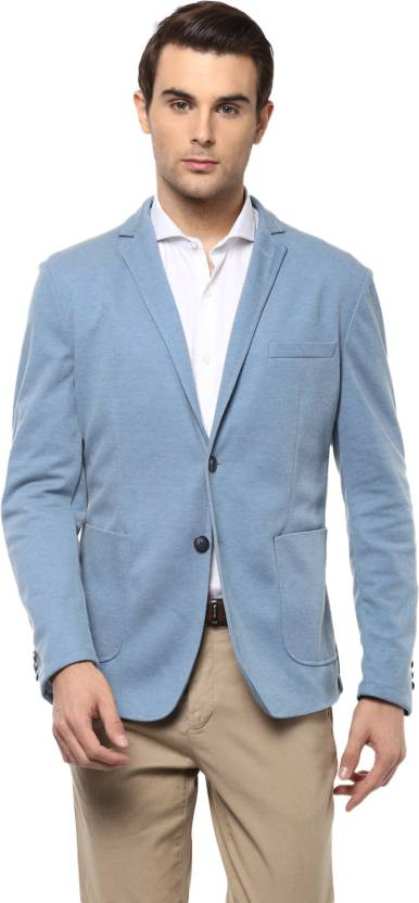 77bd5c40a Peter England Self Design Single Breasted Casual Men Blazer - Buy ...