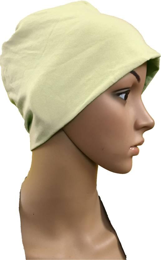 9d1984cef7139 GIRIJA Solid COTTON CAPS CHEMO BEANIES CANCER CAPS WOMEN SUMMER CHEMO CAPS  SLEEP TURBAN FOR WOMEN