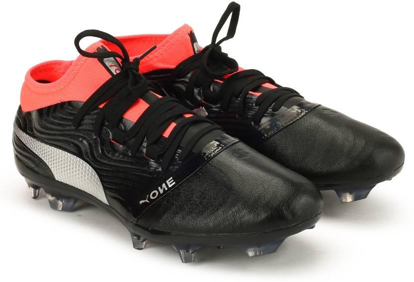 Puma ONE 18.2 FG Football Shoes For Men - Buy Puma Black-Puma Silver ... bb36ac988