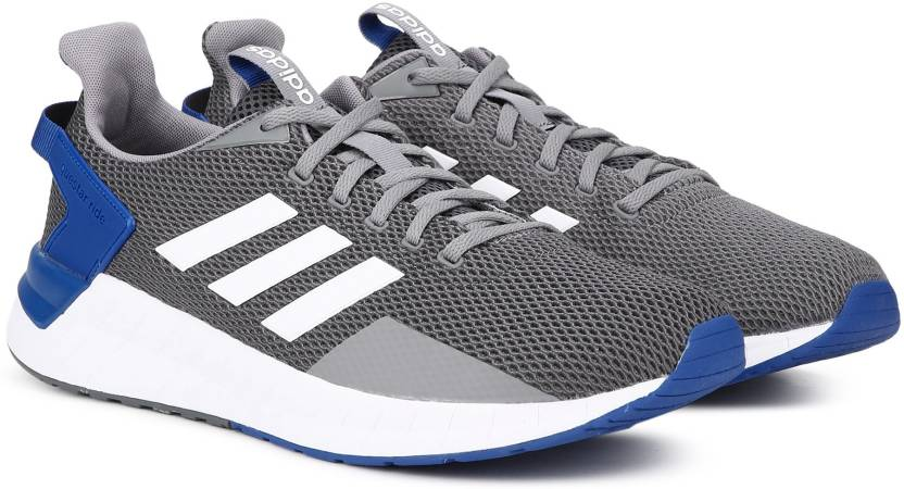 best sneakers 340e2 b63c6 ADIDAS QUESTAR RIDE Running Shoes For Men (Grey, Blue)