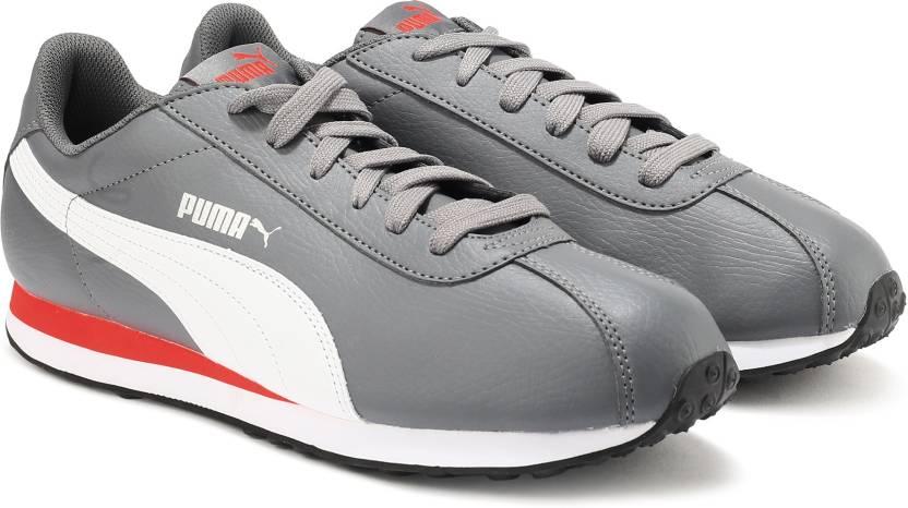 954bad6ccb2cb4 Puma Turin Sneakers For Men - Buy Steel Gray-Puma White Color Puma ...