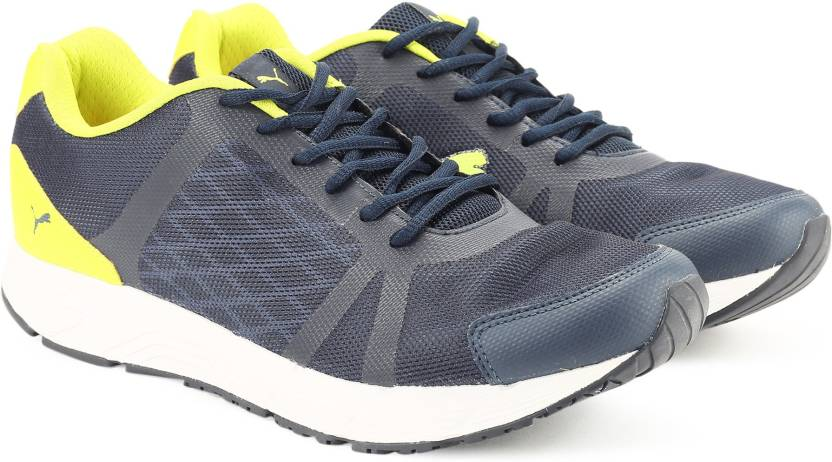 4c8a96da19df74 Puma Sigma IDP Running Shoes For Men - Buy Acid Lime-Blue Indigo ...