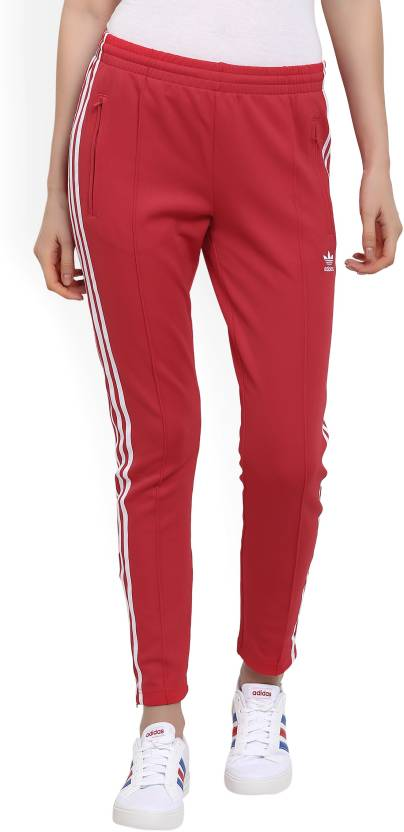 ee89ef44469 ADIDAS ORIGINALS Striped Women Red, White Track Pants - Buy Red ...