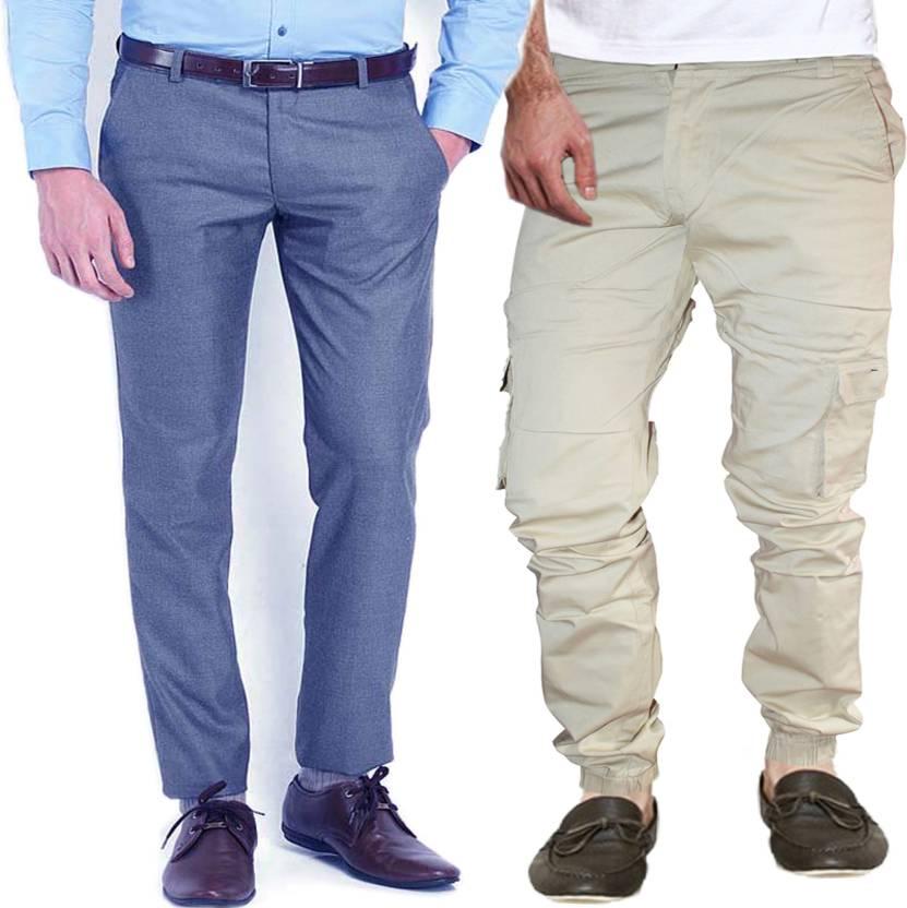 e491807a4966b4 AD & AV Regular Fit Men's Multicolor Trousers - Buy AD & AV Regular ...