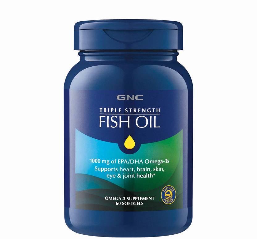Gnc Triple Strength Fish Oil Supports Heart Brain Skin Eye