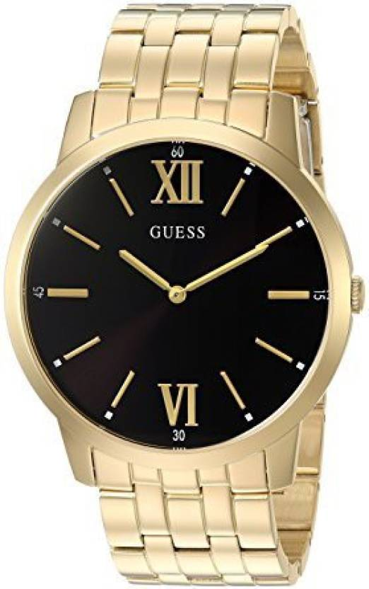3bd4be325 Guess Black 2235 GUESS Men's Stainless Steel Classic Oversized Watch,  Color: Gold-Tone (Model: U1073G2) Watch - For Men - Buy Guess Black 2235 GUESS  Men's ...