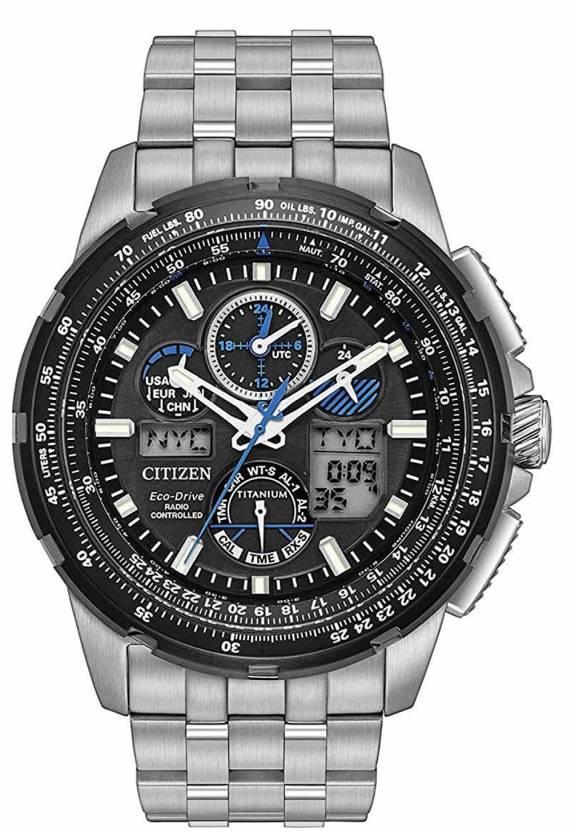 287cb2e12 Citizen Black9696 Citizen Men's Limited Edition Promaster Skyhawk A-T Super  Titanium Silver Watch Watch - For Men - Buy Citizen Black9696 Citizen Men's  ...