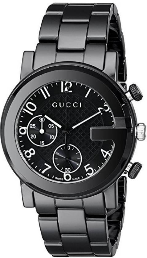 d9a04244abd GUCCI black9396 Gucci Gucci G - Chrono Collection Analog Display Swiss  Quartz Black Men s Watch(Model YA101352) Watch - For Men - Buy GUCCI  black9396 Gucci ...
