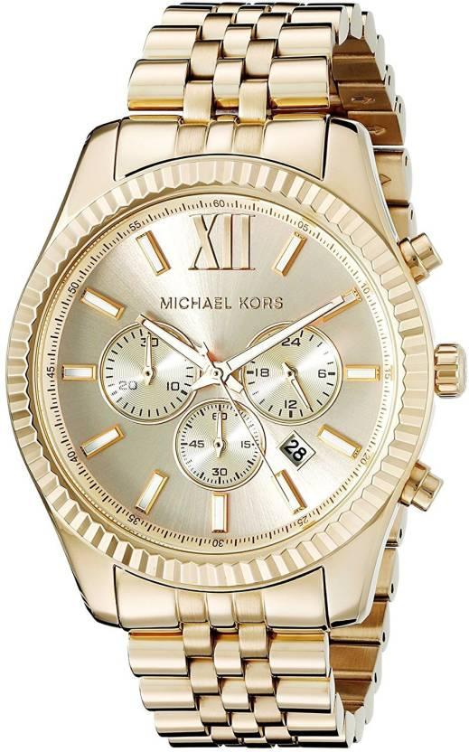 Michael Kors gold8181 Michael Kors Lexington Gold-Tone Stainless Steel  Watch MK8281 Watch - For Men - Buy Michael Kors gold8181 Michael Kors  Lexington ... 6cd6e4fe01d