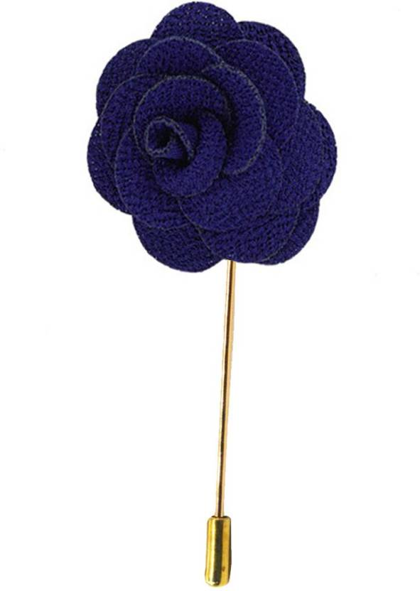 Sullery HANDMADE ROSE FLOWER LAPEL PIN Lapel Flower Womens Camellia  Handmade Boutonniere Stick Brooch Pin Jewelry Brooch (Blue 8d97fb152