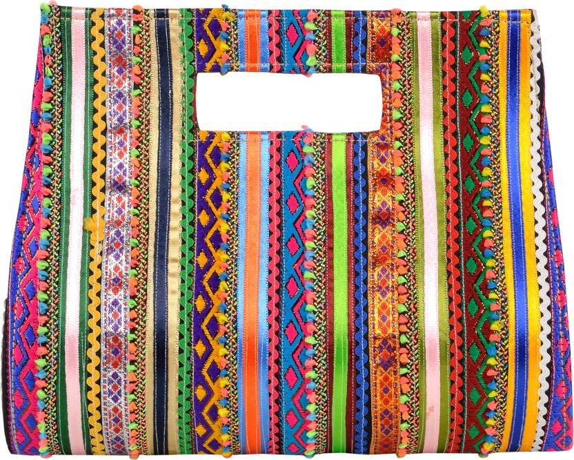 4b7dc196c51 Pabiben.Com Casual Multicolor Clutch Multi-Coloured - Price in India ...