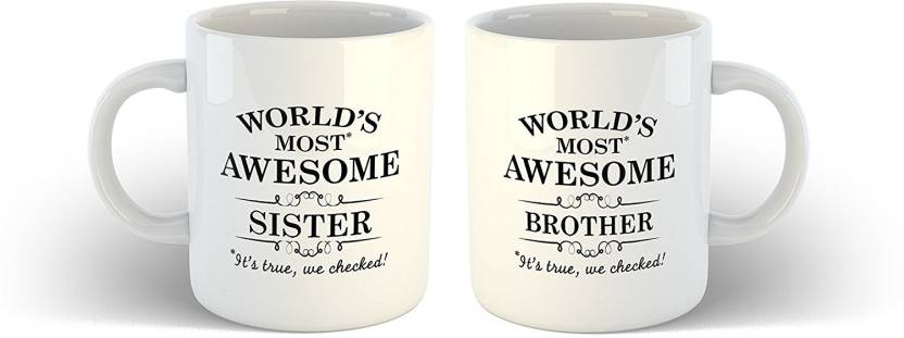 IKraft Brother Sister Gifts Sisters Day Brothers Ideas Best Birthday Gift Worlds