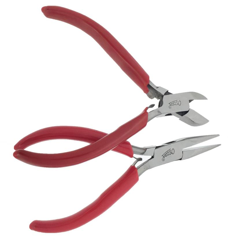 Oscar Half Round Nose Pliers Wire Wrapping Tools & Diagonal Pliers Cutter For Jewellery Making 5