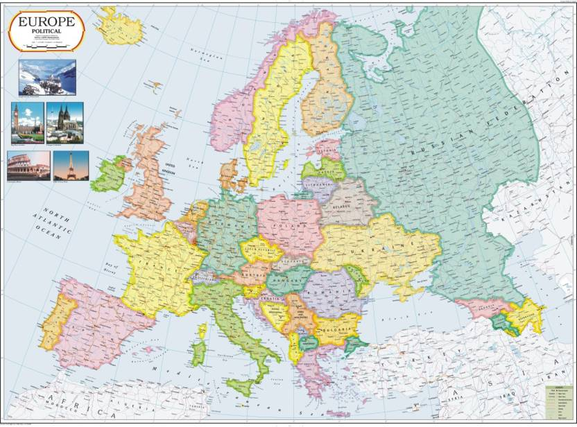 Europe Political Map Paper Print - Maps posters in India - Buy art ...
