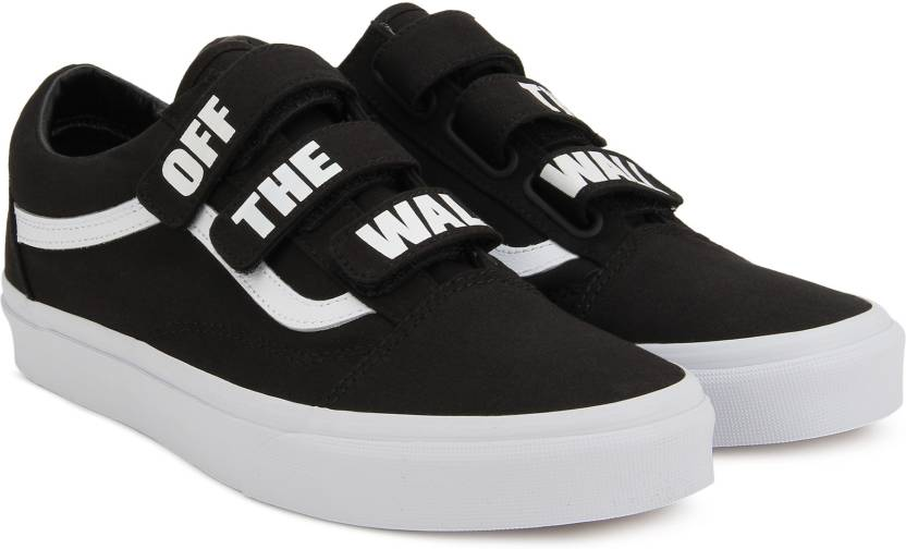Vans Old Skool V Sneakers For Men - Buy (Off The Wall) black true ... 2c303c625