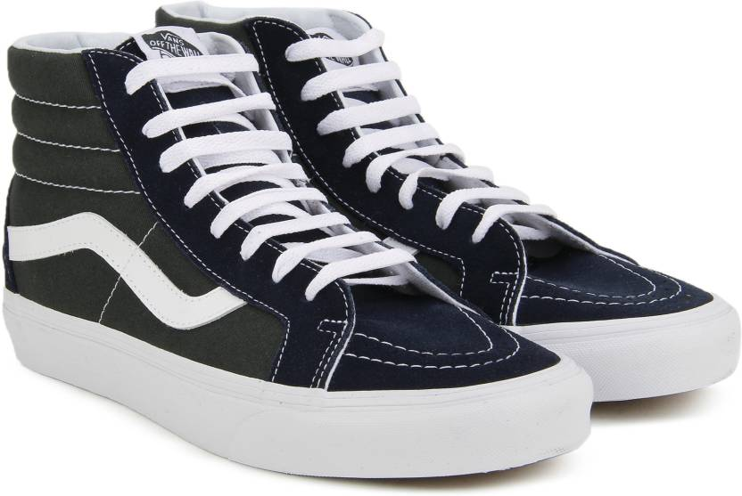 99c72c767d Vans SK8-Hi Reissue Mid Sneakers For Men - Buy (2-Tone) dress blues ...