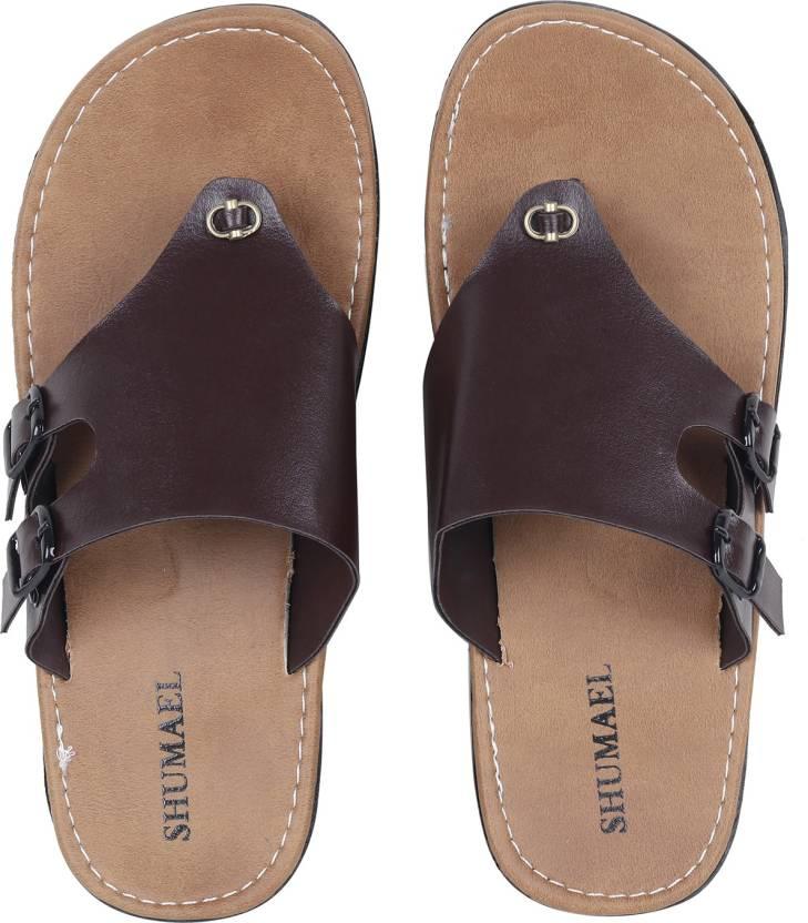 2da1ab80fe9a Shumael Men s Brown Flip-Flops and House Slippers Slippers - Buy Shumael Men s  Brown Flip-Flops and House Slippers Slippers Online at Best Price - Shop ...