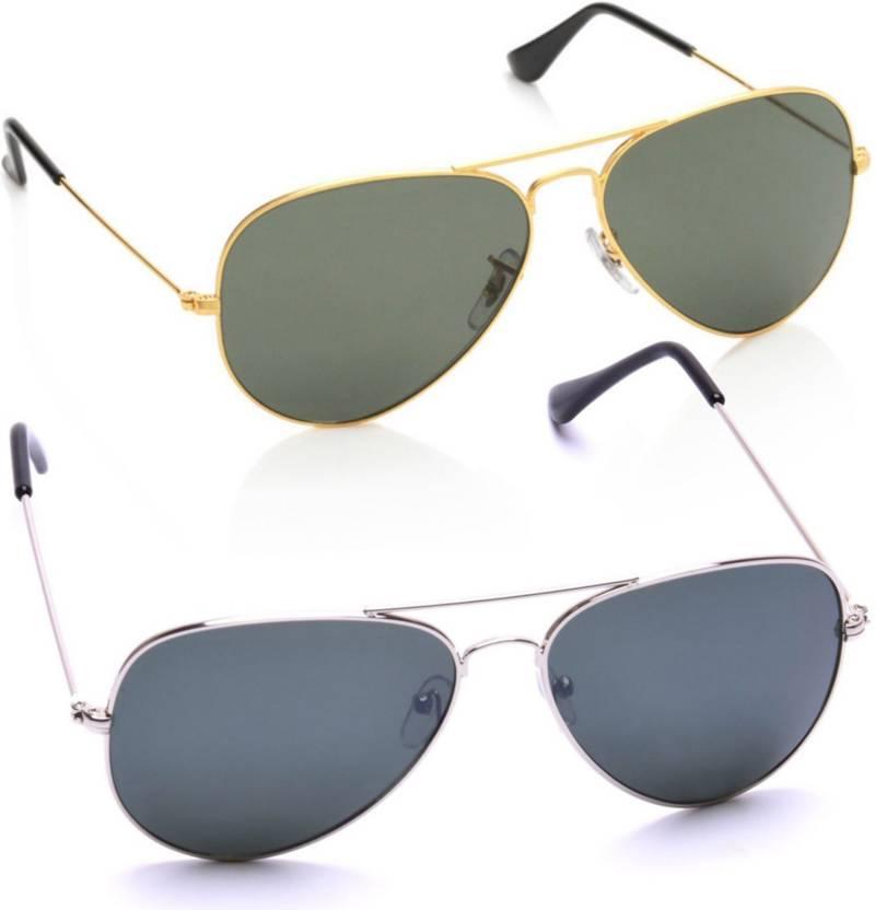 8a2be22d06cc4 Buy Azmani Aviator Sunglasses Multicolor For Men   Women Online ...
